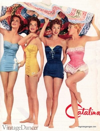 1954 princess swimsuits (Bubble on the Right)