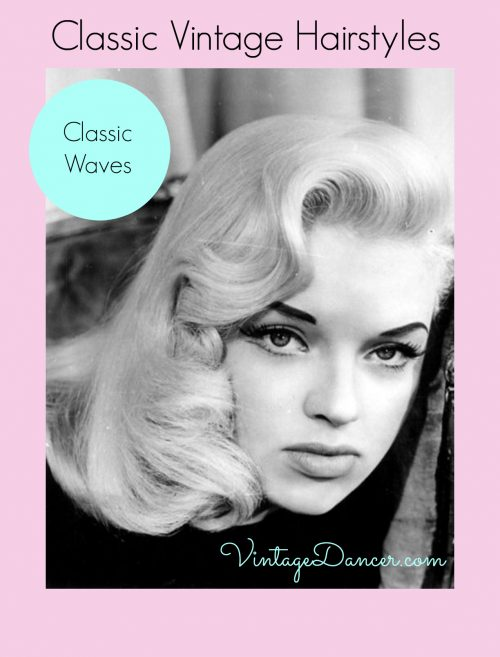 Hair was styled into large, loose waves during the 1940s and 1950s.