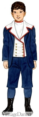 1896 boys sailor suit, victorian children's fashion