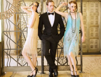 Bridesmaids dresses ready for a an Art Deco themed wedding reception. Shop dresses at VintageDancer