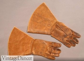 1910-1920 mens leather driving gloves