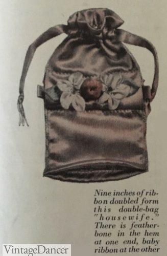 1914 simple reticule bag
