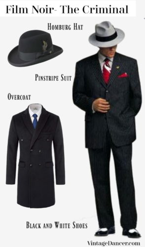 1930s gangster outfit mens clothing costume Film Noir at VintageDancer