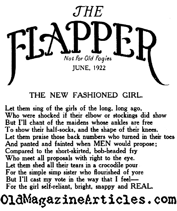 1920s flapper poem history of flapper girls