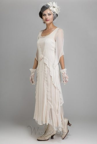 1920s tea dress, white daytime party dress