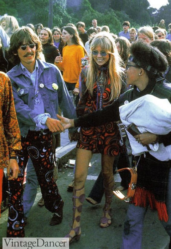 60s hippies George Harrison and Pattie Boyd-Harrison