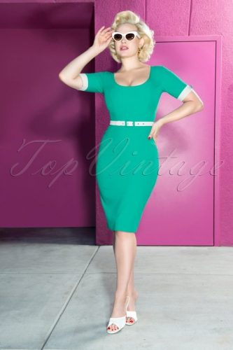 Glamour Bunny 50s Annie Pencil Dress at Top Vintage