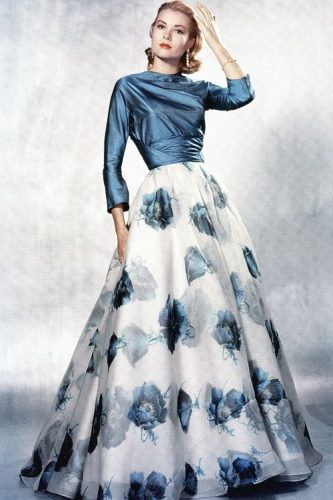 This gown Grace Kelly is seen wearing perfectly epitomises the femininity and glamour of the 1950s.