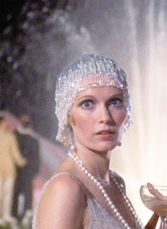 Greta Gatbsy movie silver skullcap