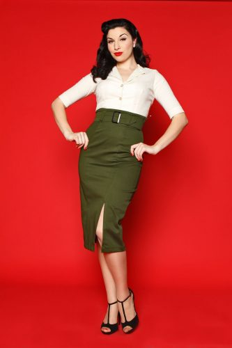 1950s office outfit for work by Heart of Haute