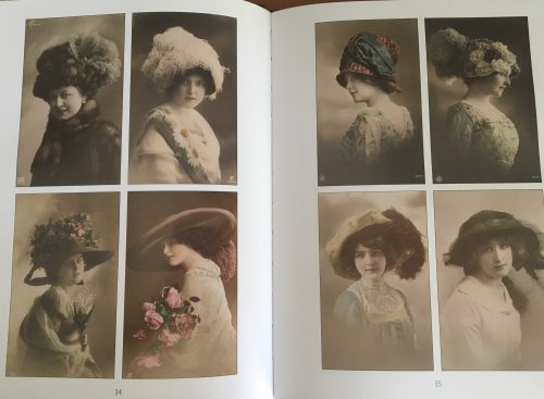 Edwardian postcard hats