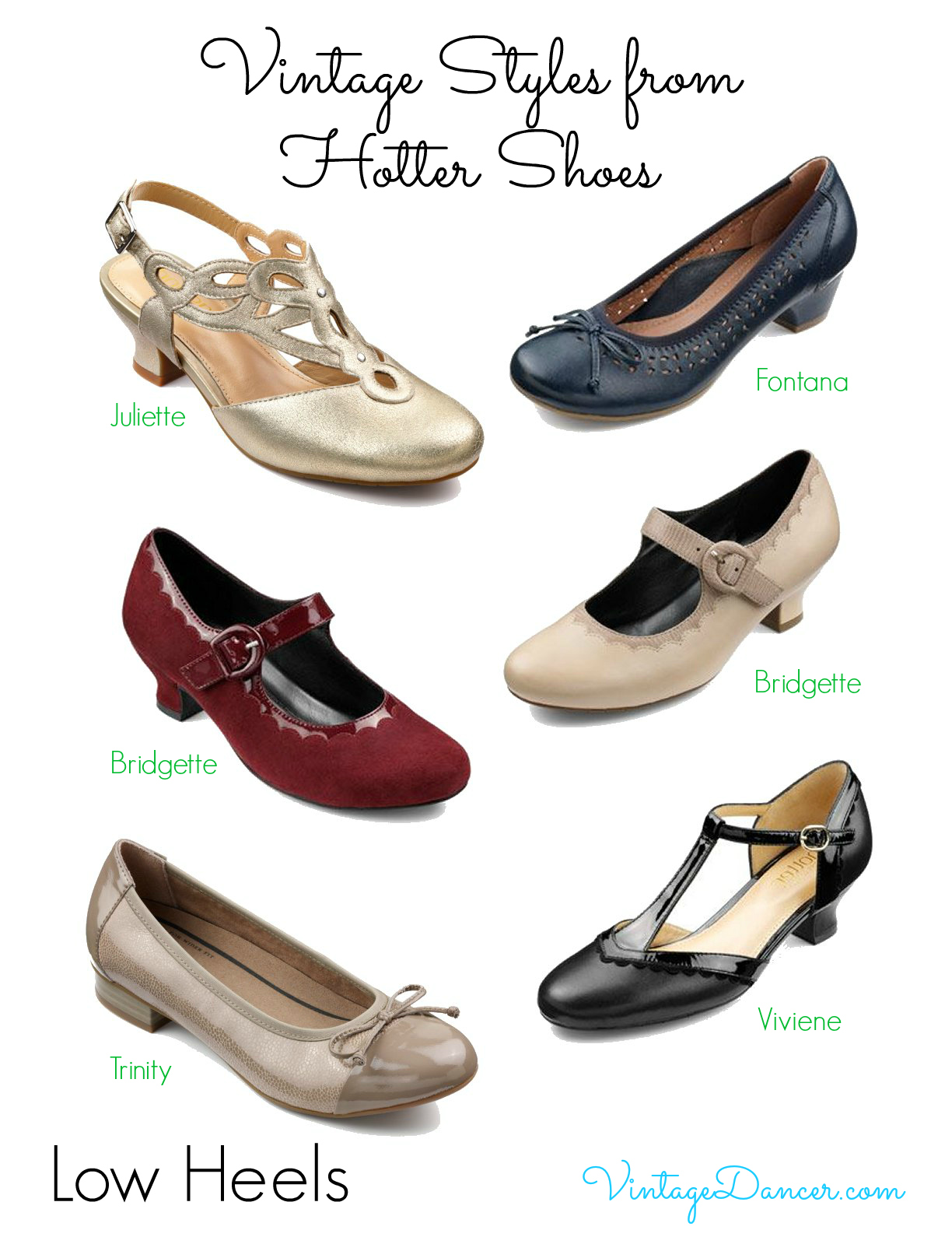 Vintage Inspired Shoe Styles From Hotter Shoes