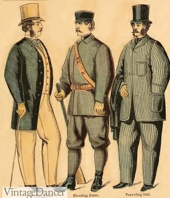 1863 Victorian men's walking, shooting and traveling suits