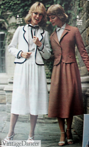 1978 tailored blazers and skirts
