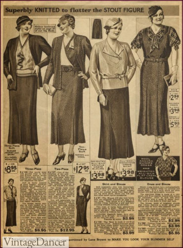 1933 suits and separates for plus size women