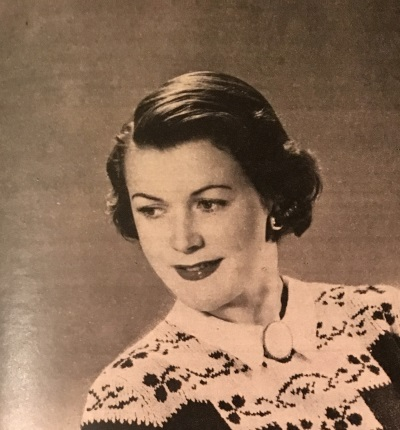 Late 1940s short hair with side part