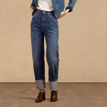 Levi's 701 women's jeans, based on an original style dating from the 1950s.