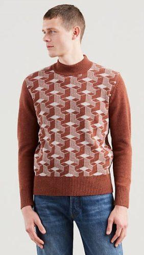Levis reproduction 60s geometric tile sweater