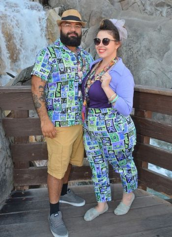 Matching vintage couple, rockabilly tiki style!
