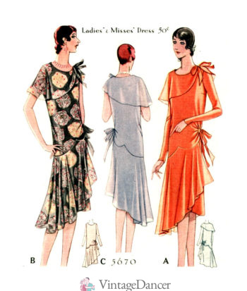 1928 Asymmetrical Dresses