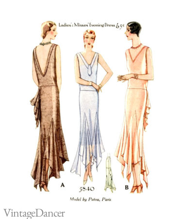 1928 long evening gowns
