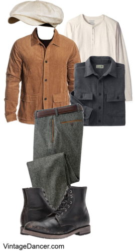 2020 Men's fall autumn vintage casual workwear outfit ideas at VintageDancer