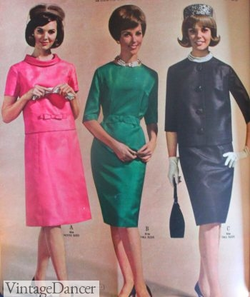 1964 mod day or night dresses in silk