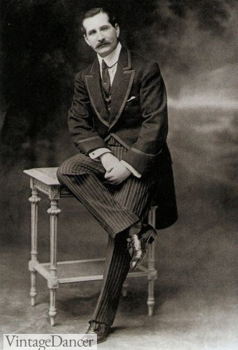 Traditional 1900 Men's Morning Suit, Edwardian era