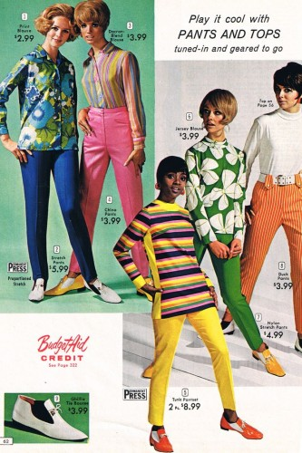 1960s fashion womens pants