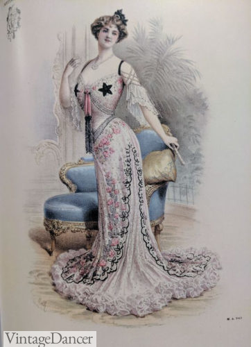 1903 lace evening dress by Paquin