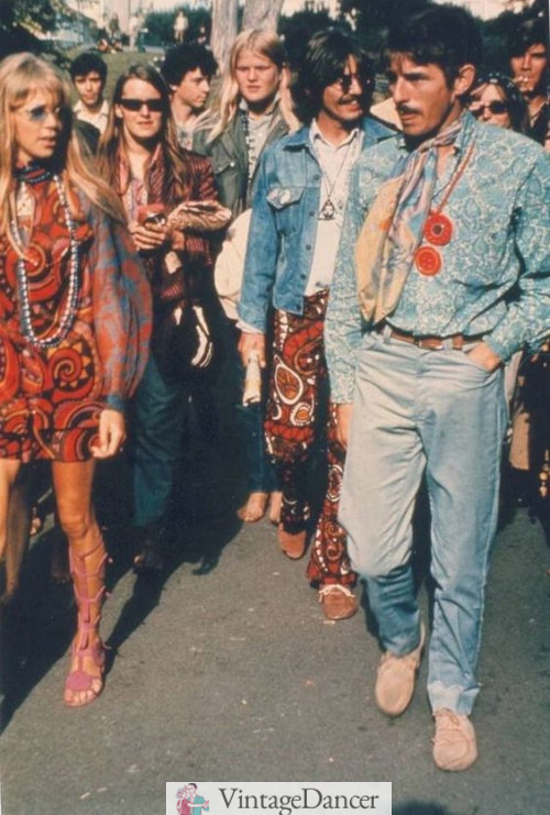 60s hippies, Pattie Boyd and George Harrison in San Francisco