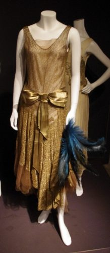 London Fashion and Textile Museum 1920s gold evening dress