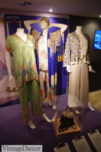 Paul Beattie London Fashion and Textile Museum pajamas and robe 1920s at VintageDancer
