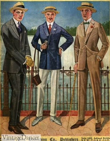 1920 tailored suits menswear fashion