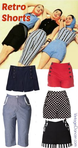 Shop 1950s style shorts Retro high waist shorts are in style