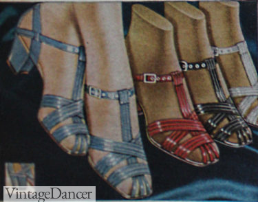 1937 strappy colorful sandals