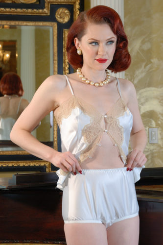 Retro lingerie Satin panties by Secrets in lace