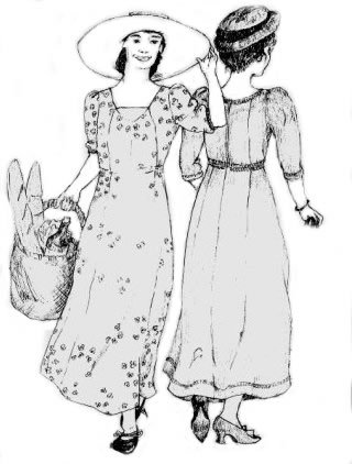 Edwardian era sewing pattern by Sense and Sensability