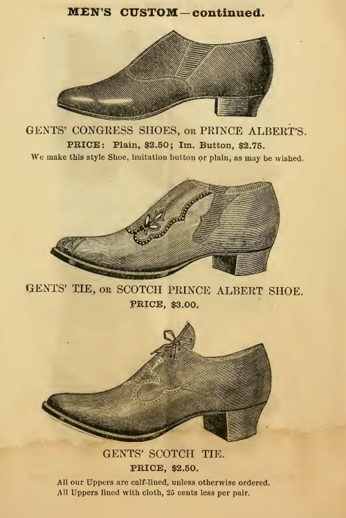 1855 Victorian men's shoes