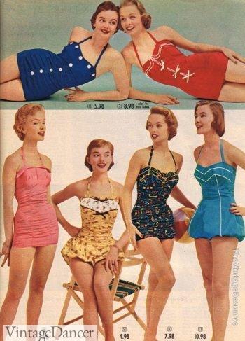 Spiegel swimwear collection 1955 swimsuits