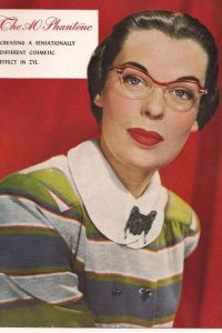 1950s rimless cat eye glasses at VintageDancer