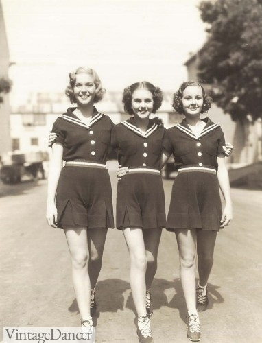 1940s playsuits navy white sailor