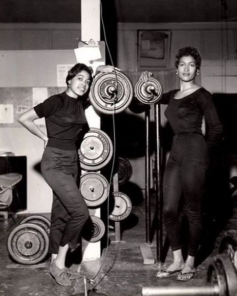 1950s gym clothes workout outfits black women