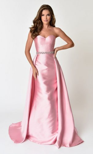 1950s Marilyn Monroe Inspired Pink Gown, Prom Dress, Evening Dress