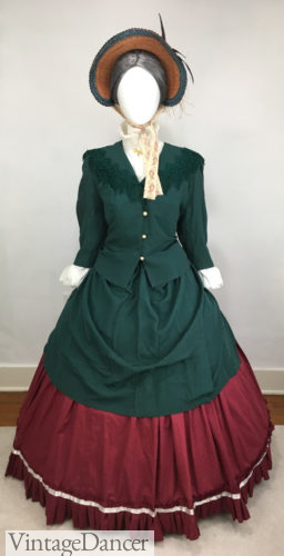 Victorian outfit Christmas Dickens caroler 1840s 1850s