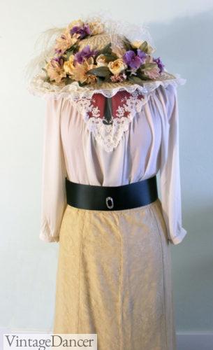 Victorian Edwardian era easy costume to make, 1910-1914