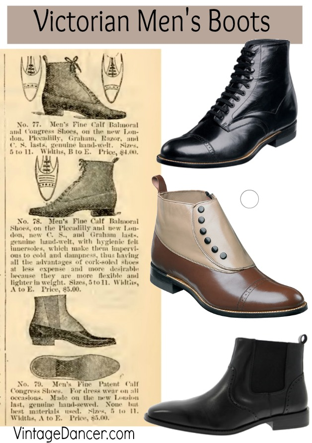 Budget Friendly Victorian Men S Boots And Shoes