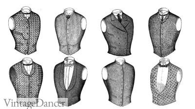 Men's Victorian Vests Waistcoats