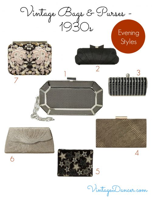 Choose from these vintage inspired styles to complete a 1930s evening wear look.