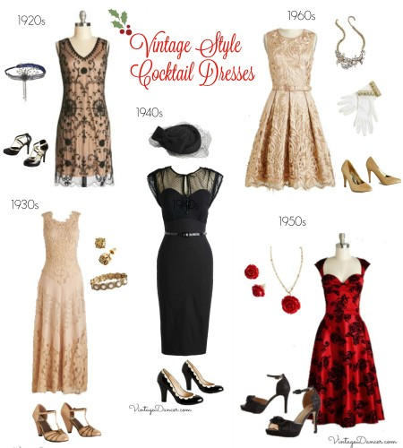 Vintage inspired cocktail dress ideas 1920s to 1960s